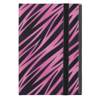 Rosa Zebra-Streifen-Hintergrund iPad Mini Schutzhülle