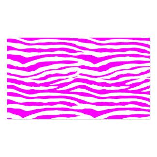 Rosa Zebra-Streifen Visitenkarten Vorlagen