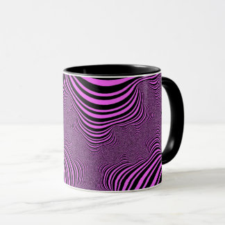 Rosa Zebra Stripes Tasse