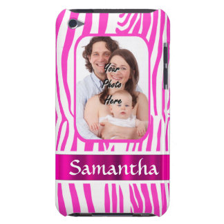 Rosa Zebradruck Barely There iPod Case