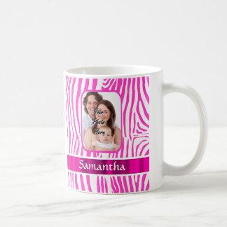 Rosa Zebradruck Kaffeetasse
