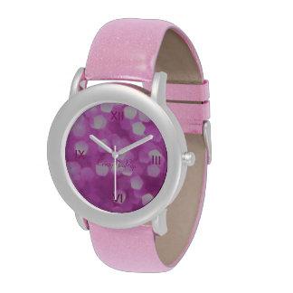 rosa Zeit, sich gut zu fühlen Armbanduhr