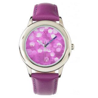 rosa Zeit, sich gut zu fühlen - Uhr für Mädchen