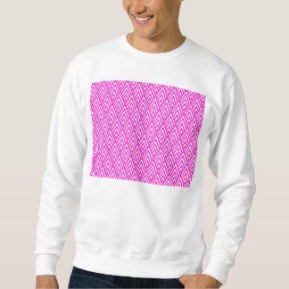 Rosa Zickzack Folien-Rosa-und weißesgeometrisches Sweatshirt