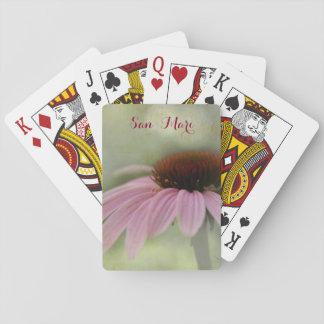 Rosa Zinnia-Blume Spielkarten