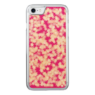 Rosa Zitronen-Creme-Gelb-Neonsterne Carved iPhone 8/7 Hülle
