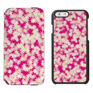 Rosa Zitronen-Creme-Gelb-Neonsterne Incipio Watson™ iPhone 6 Geldbörsen Hülle