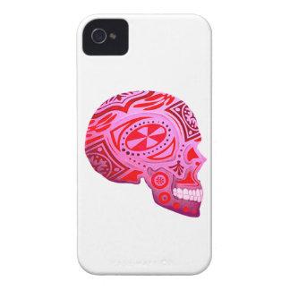 Rosa Zuckerschädel-Skelett - Tätowierungs-Kunst iPhone 4 Etuis
