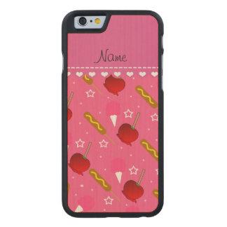 Rosa Zuckerwatte-Apfel-Maisnamenshunde Carved® iPhone 6 Hülle Ahorn