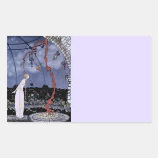 Rosalie und erstaunlicher Pflaumen-Baum Rechteckiger Aufkleber