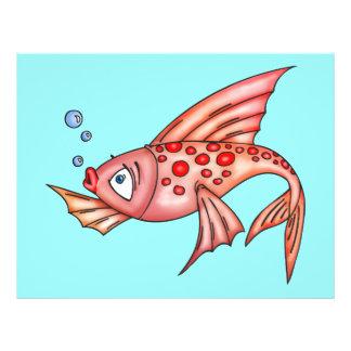 Rosarote Lippenfische 21,6 X 27,9 Cm Flyer