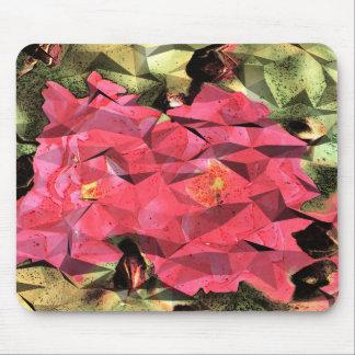 Rosarote Rosenabstrakter Cubist-Futurist Mauspads