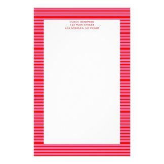 Rosarotes gestreiftes Muster Büropapiere