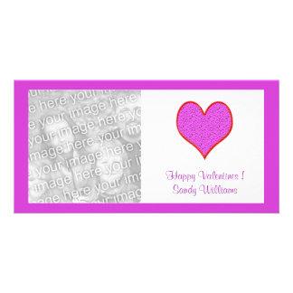 rosarotes Herz Fotokarten