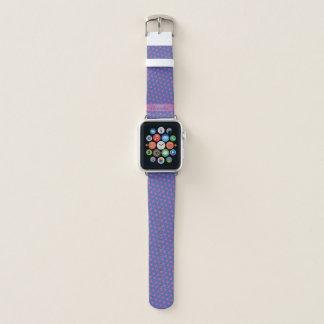 Rosasterne auf einem blauen Hintergrund. Addieren Apple Watch Armband