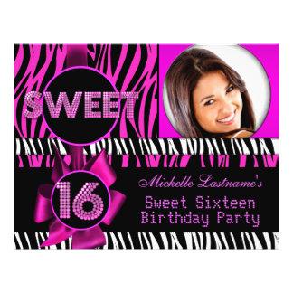 Rosazebra-Foto 16. Geburtstag des Bonbon-16 heißes Flyer