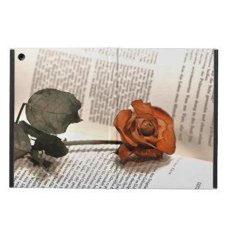 Rose auf der Buchseite