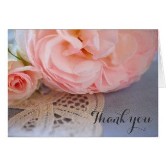 Rose auf Spitze danken Ihnen Karte