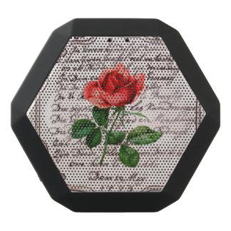 Rose auf Stein Schwarze Bluetooth Lautsprecher