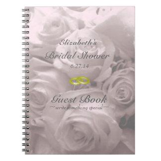 Rose-Brautduschen-Gast-Buch Notiz Buch