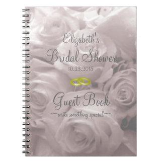Rose-Brautduschen-Gast-Buch Spiralblock