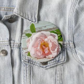 Rose, Brosche Runder Button 10,2 Cm