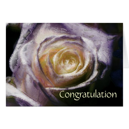 Rose congratulation karte