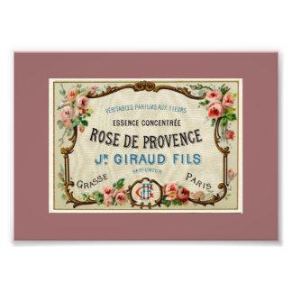 Rose de Provance ein französisches Parfüm Photographischer Druck