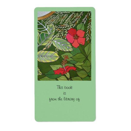 Rose der Sharon-Dschungelbuchplatte Großer Adressaufkleber
