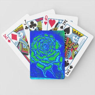 Rose des Blaus Bicycle Spielkarten