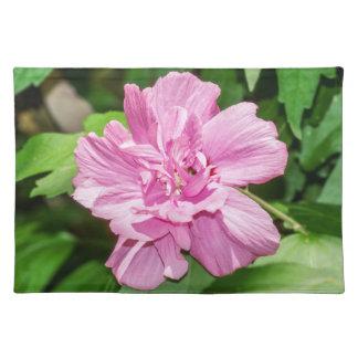 Rose des Sharon-Blüten-Stoff-Tischsets Stofftischset