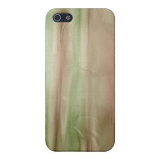 Rose, Gold und grüne flüssige Seide iPhone 5 Etui