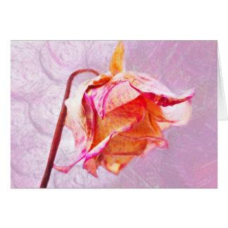 Rose Grußkarte