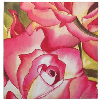 Rose Hannah Gordon rosa Watercolorkunst Serviette