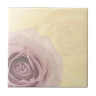 Rose in den Schatten Kleine Quadratische Fliese