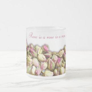 Rose ist eine Rosen-Tasse Matte Glastasse