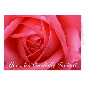 Rose kardiert personalisierte karte