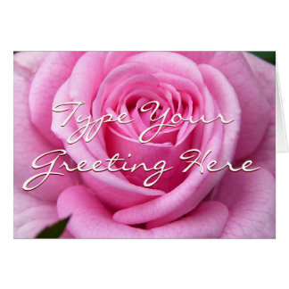 Rose kardiert rosa Blumen-kundenspezifische Gruß-K