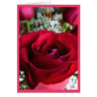 Rose kardiert rote Blumen-kundenspezifische Gruß-K Grußkarte