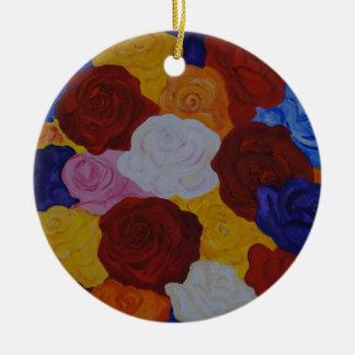 Rose magic keramik ornament