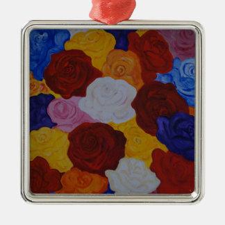 Rose magic silbernes ornament