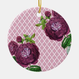 Rose morrocco keramik ornament