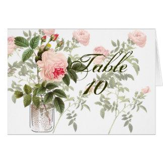 Rose of Orleans Mason White Wedding Seating Card