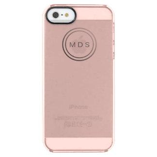 Rose rosa klarer iPhone 5/5s Fall Durchsichtige iPhone SE/5/5s Hülle