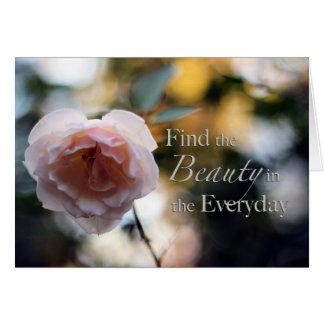 Rose suchen nach der Schönheit in der täglichen Ka Grußkarten