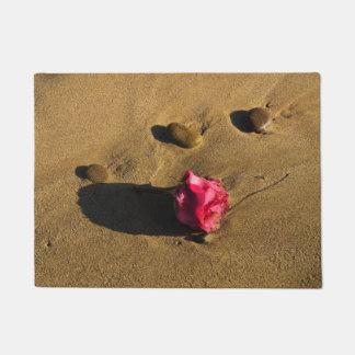 Rose und Steine Türmatte