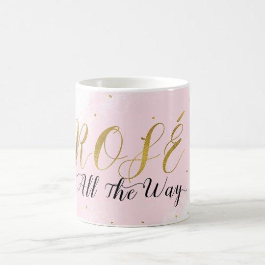 Rosé vollständig Rosa-u. Goldwein-moderner Zauber Kaffeetasse