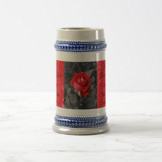 Rose von Liebe Stein Bierkrug