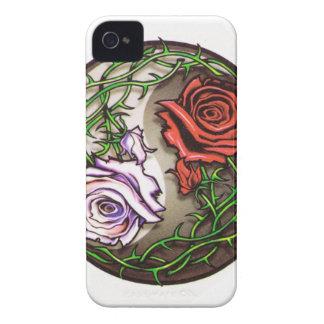 Rose yingyang Tätowierungsentwurf iPhone 4 Hüllen