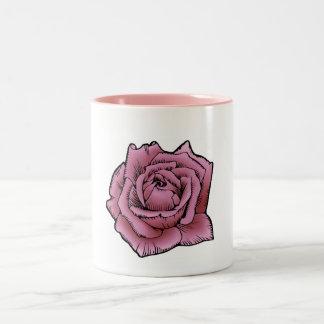 Rose Zweifarbige Tasse
